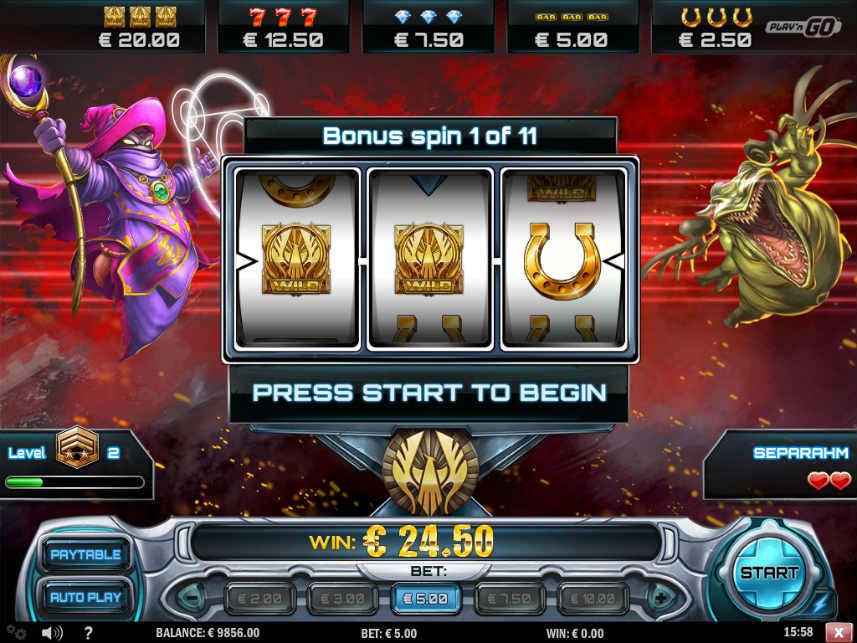 Bonusfunktion i casinospelet Cloud Quest