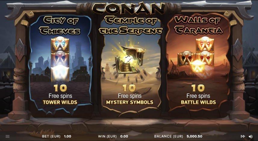 bonusfunktioner i casinospelet conan från slotutvecklaren netent