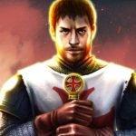En tempelriddare från spelet Crusader