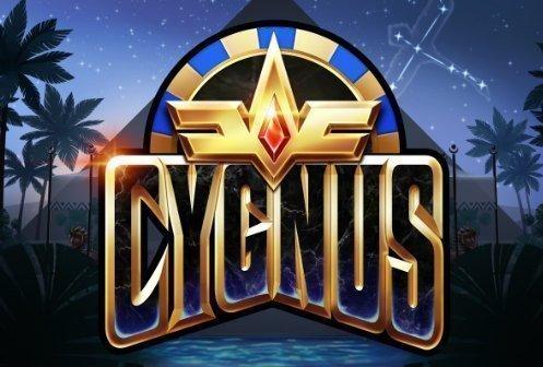 Logotyp tillhörande casinospelet Cygnus från Elk Studios.