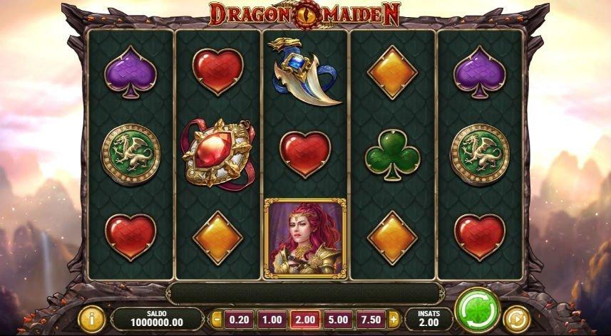 Dragon maiden casino spel
