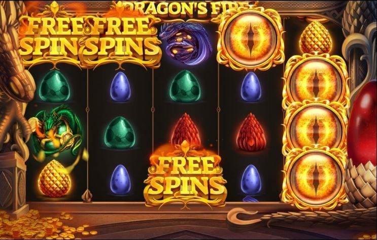 I online sloten dragons fire kan du låsa upp freespins