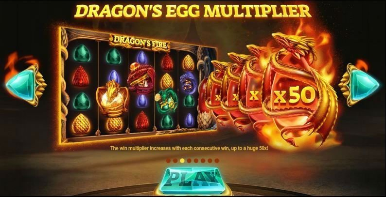 Multipliers i online slot Dragons Fire