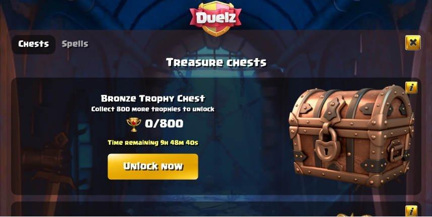 Bonuskista som går låsa upp hos Duelz
