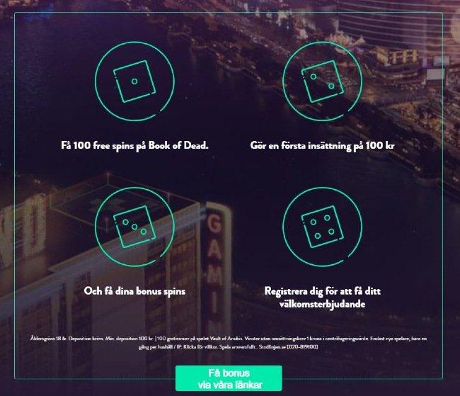 Dunder Casino välkomstbonus freespins