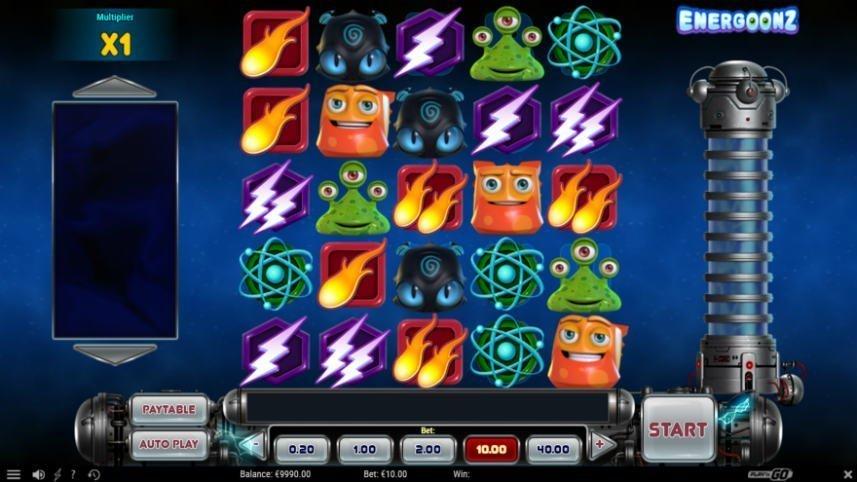 skärmbild från casinospelet Energoonz
