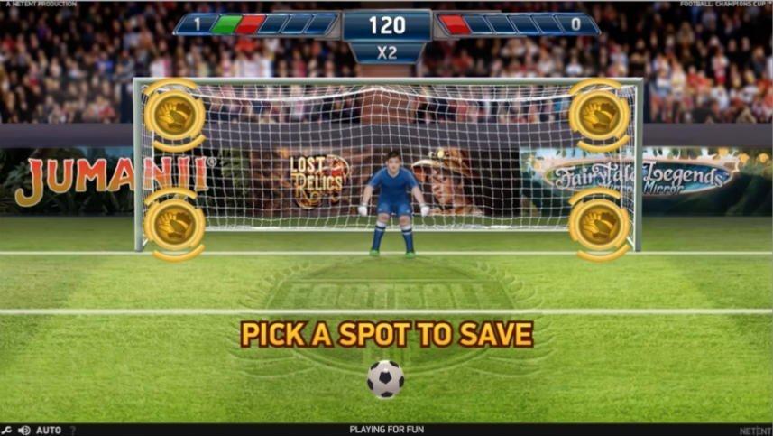 Bonusspel i online slot Football Champions Cup