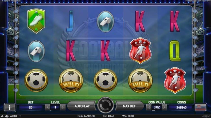 Basspelet i online slot Football Champions Cup