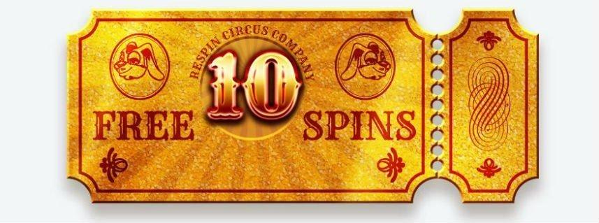 På denna bilden ser vi en gyllene biljett från Respin Circus. Dessa biljetter kan samlas och sedan användas för freespins i spelet.