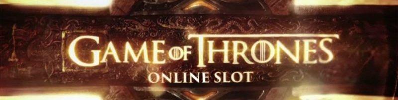 Logotyp tillhörande casinospelet Game of Thrones Online Slot.