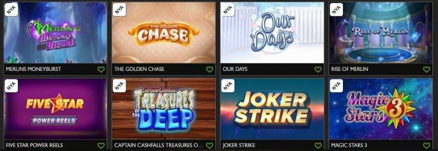 Lista av casinospel från Gday casino.