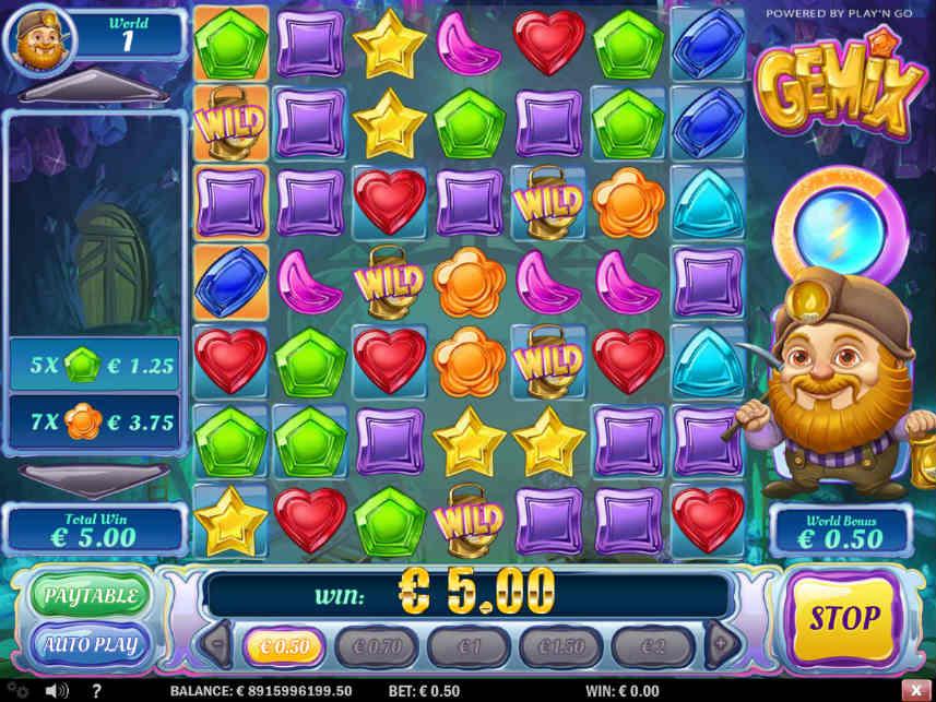 Basspel i online sloten Gemix från Play n'Go
