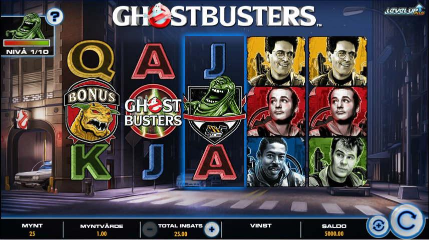 Ghostbusters Plus online slot som du kan testa gratis på Spelautomater