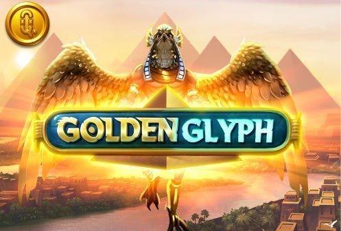 Grafik och logotyp från casinospelet Golden Glyph