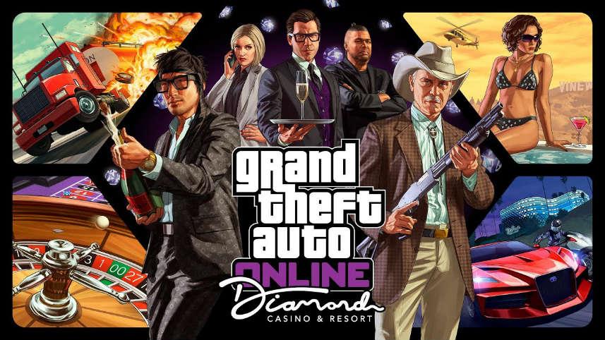Reklambild från det bästsäljande tv-spelet Grand Theft Autos tilläggspaket Diamond and Casino Resort.