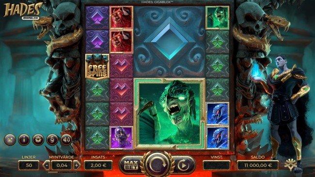 Hades Gigablox online slot från Yggdrasil Gaming