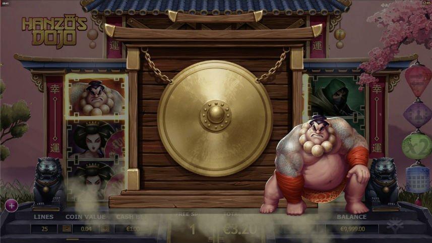 casino spelet Hanzos Dojo från Yggdrasil