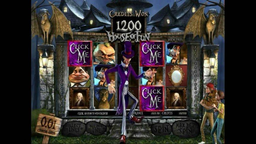 Skärmbild från det numera nedlagda casinospelet House of Fun som släpptes 2010.