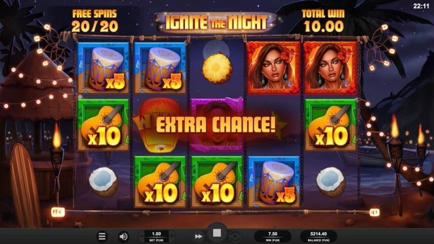 casinospelet Ignite the Night från spelutvecklaren Relax Gaming