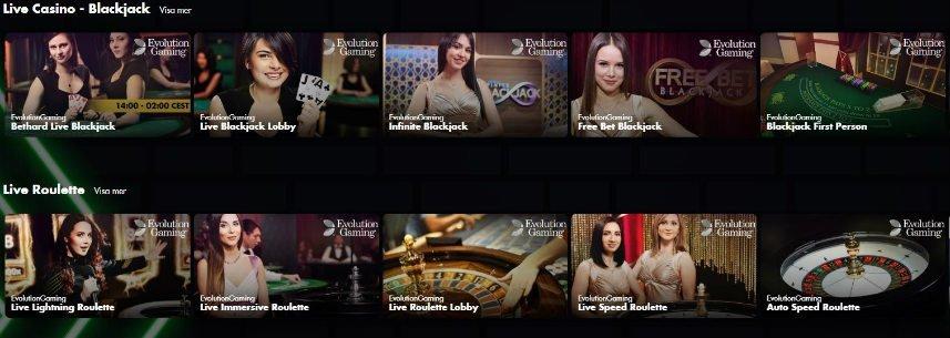 live casino på inandoutbet