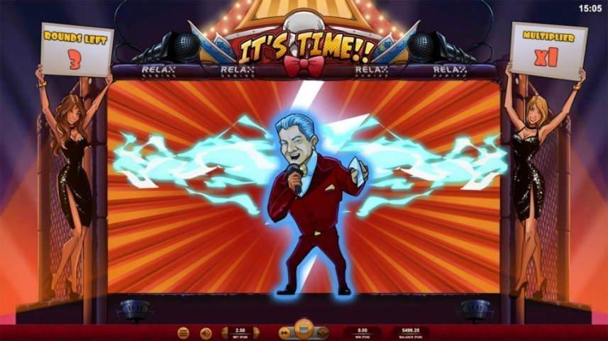 Buffer i casinospelet It's Time från Relax Gaming