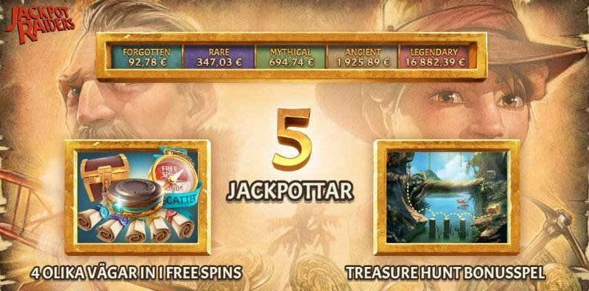 jackpot raiders slot funktioner