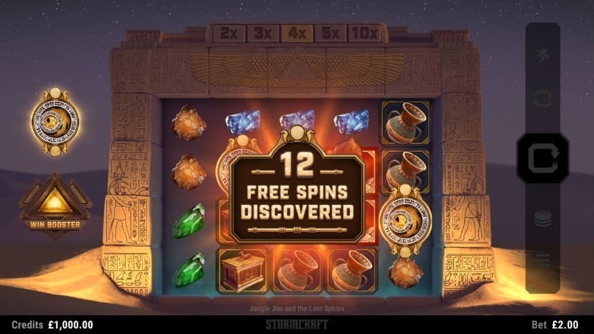 Freespins i casinospelet Jungle Jim The Lost Sphynx från Microgaming