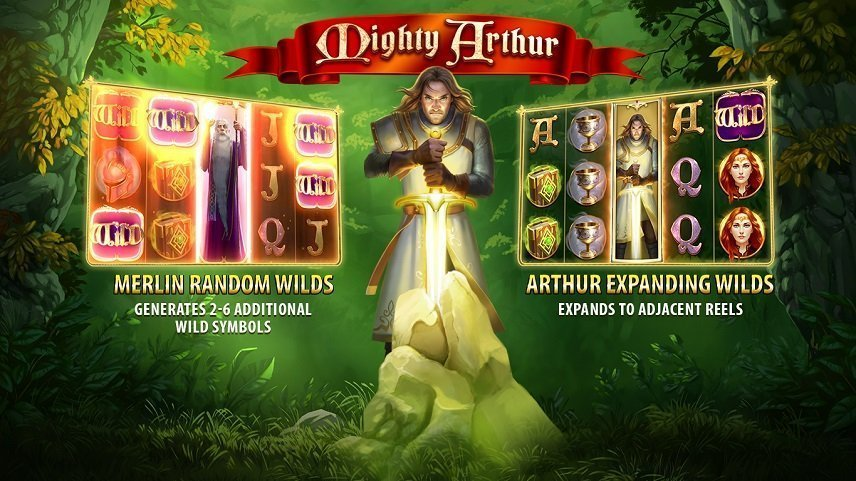 Två Wilds med olika funktioner i Mighty Arthur