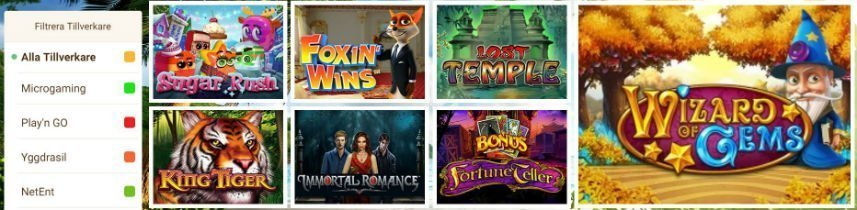 mango casino spelautomater