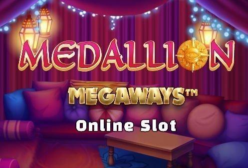 Logotyp från online slot Medallion Megaways