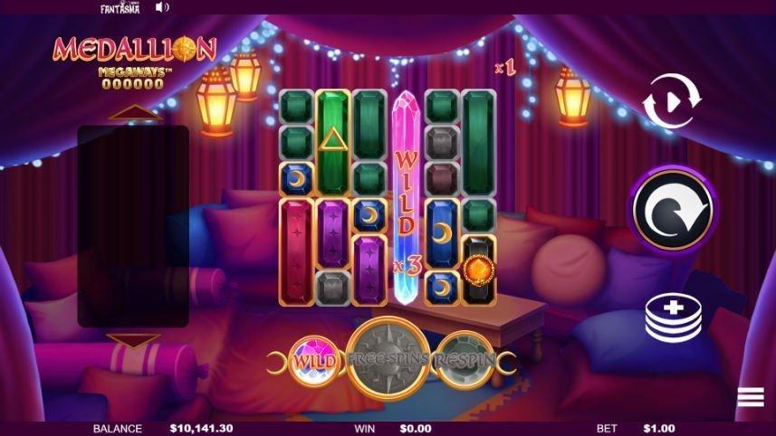 Wild i casinospelet Medallion Megaways