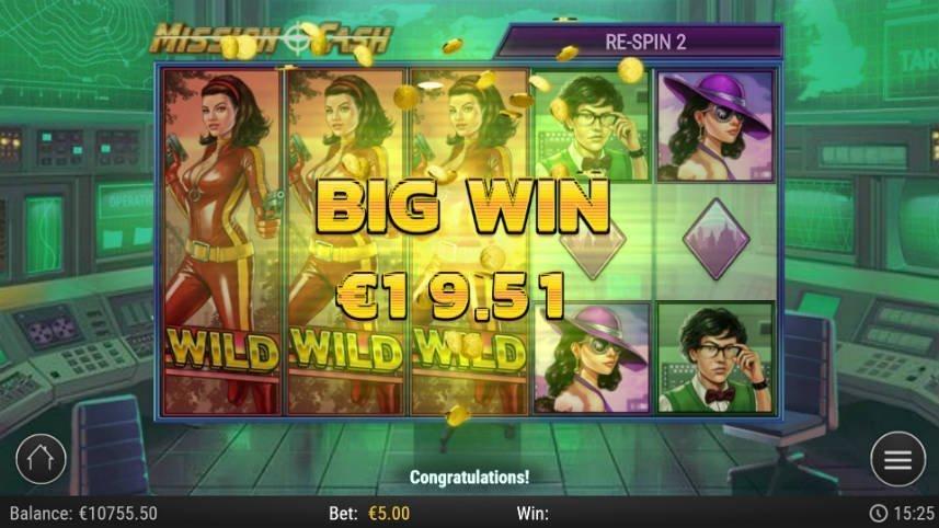 Stor vinst i online sloten Mission Cash