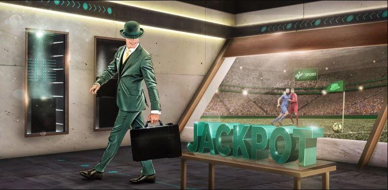 Mr Green håller i tävling under fotbolls vm