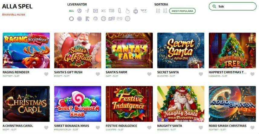 Ett urval av de spel som finns att hitta på Mucho Vegas casino