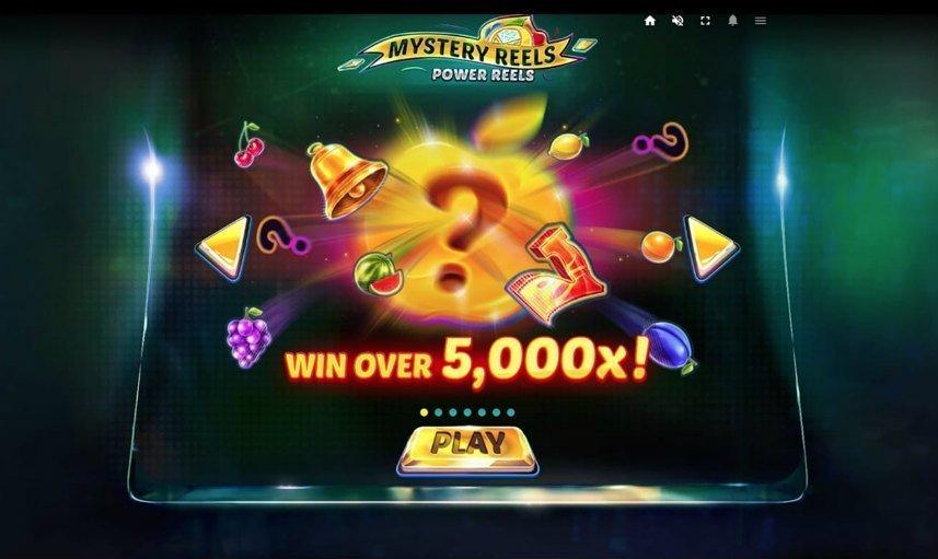 Om du har mycket tur kan du vinna upp till 5000x din insats i casinospelet Mystery Reels Power Reels