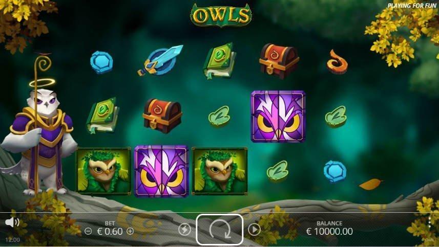 Owls slot symboler