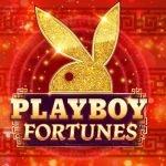 logotyp för microgamings online slot playboy fortunes
