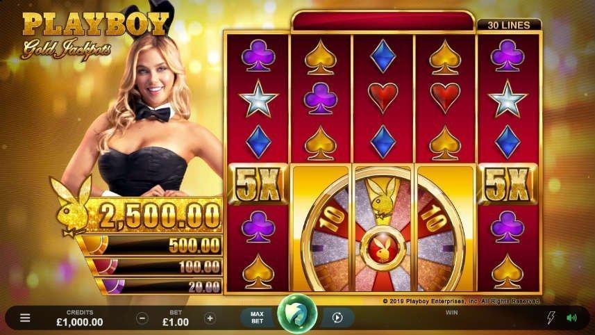 grundspelet i online slot Playboy Gold Jackpots