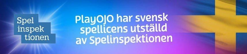 playojo casino svensk licens
