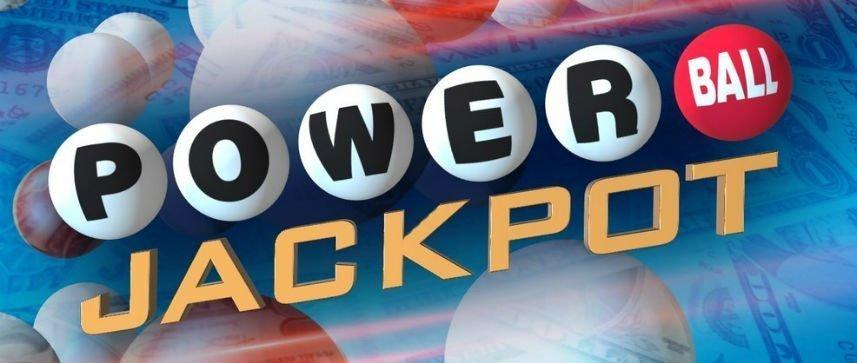 Reklambild för Power Ball Jackpot. Ett lotteri som går att spela på svenska lottosidor.