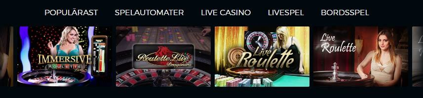 De flesta casinon har i dagsläget ett utbud av livespel