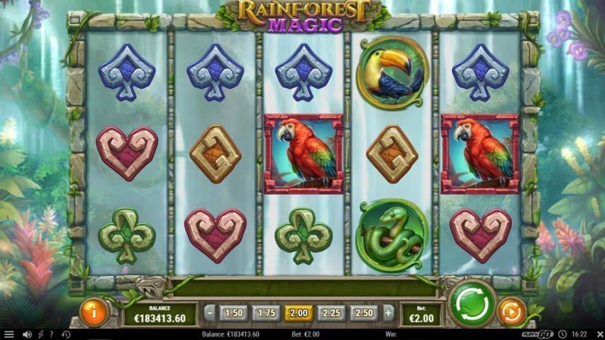 casinospelet rainforest magic från play'n go