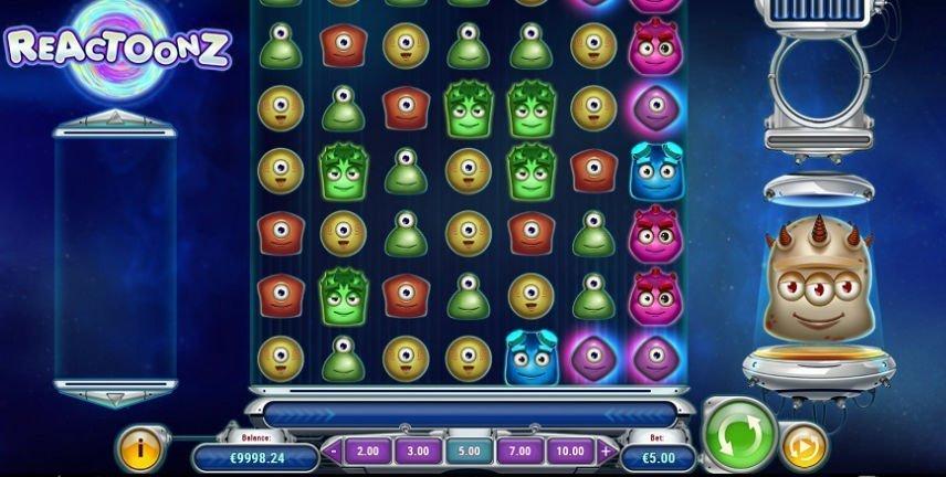 Reactoonz är ett knasigt spel från Play'n Go