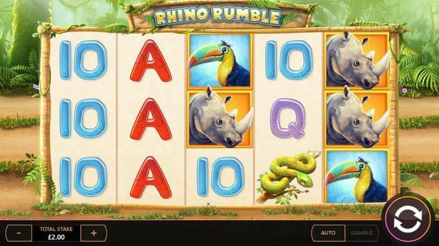 Rhino Rumble är ett casinospel från Cayetano Gaming