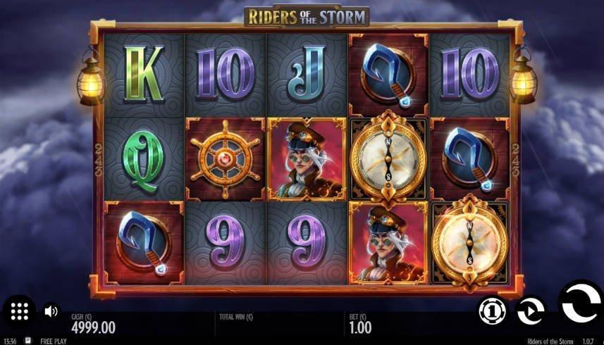 online slotten Riders of the Storm från spelutvecklaren Thunderkick