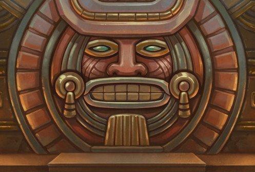 Design av mayastruktur från casinospelet Rise of Maya.