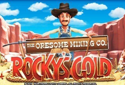 Grafik från online slot Rockys Gold