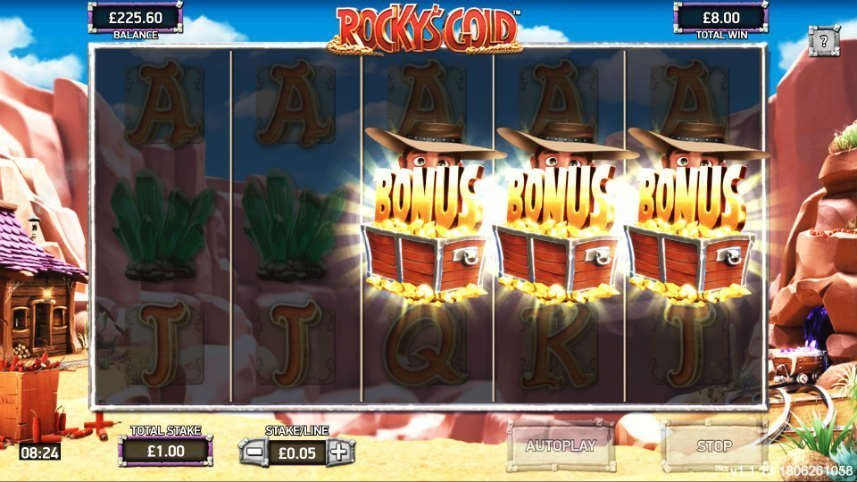 bonus i online slot Rockys Gold