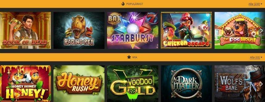På Snabbis casino finns det mängder av online slots att välja mellan