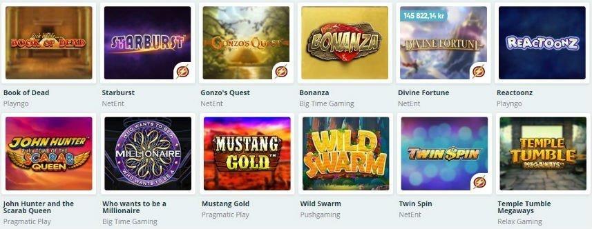 online slots på casinot Speedy Bet